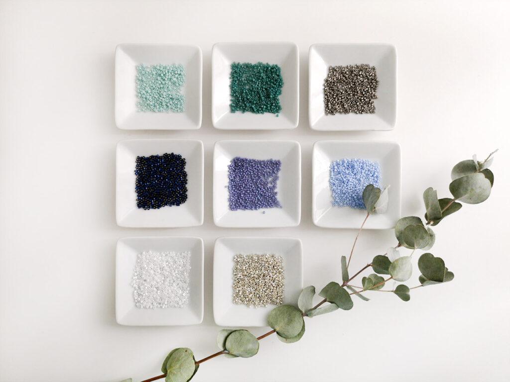 liste des perles miyuki delicas bleu canard