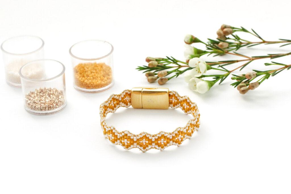 bracelet losange en perles miyuki