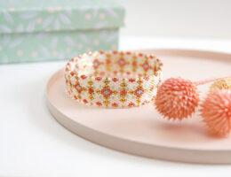 Bangle en perles Miyuki technique Peyote circulaire